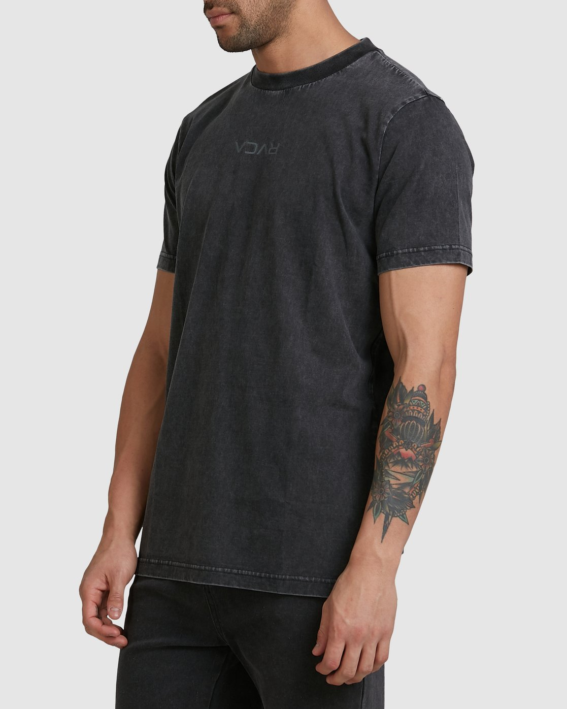 1 RVCA MINI FLIPPED SHORT SLEEVE TEE Black R105048 RVCA
