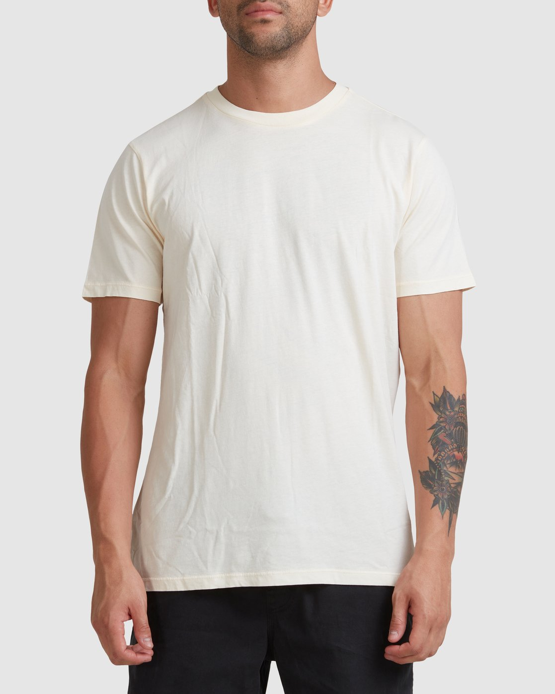 0 Rvca Washed Short Sleeve Tee White R105050 RVCA