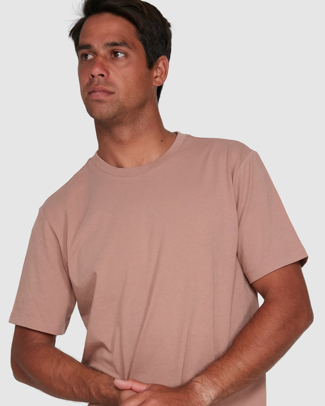 3 Rvca Washed Short Sleeve Tee Pink R105050 RVCA