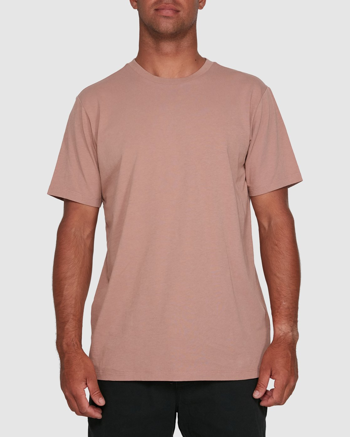 0 Rvca Washed Short Sleeve Tee Pink R105050 RVCA