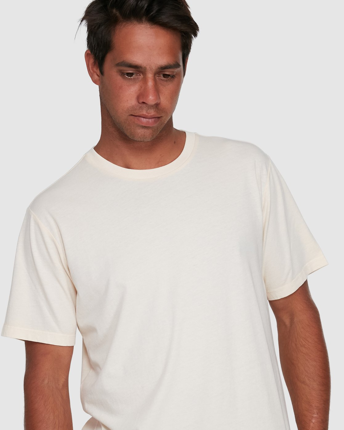 9 Rvca Washed Short Sleeve Tee White R105050 RVCA