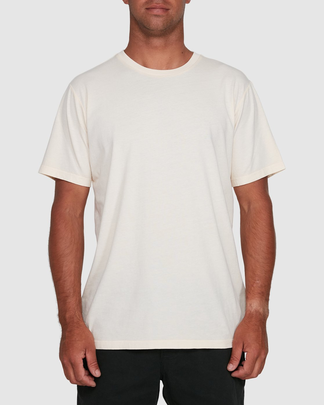5 Rvca Washed Short Sleeve Tee White R105050 RVCA