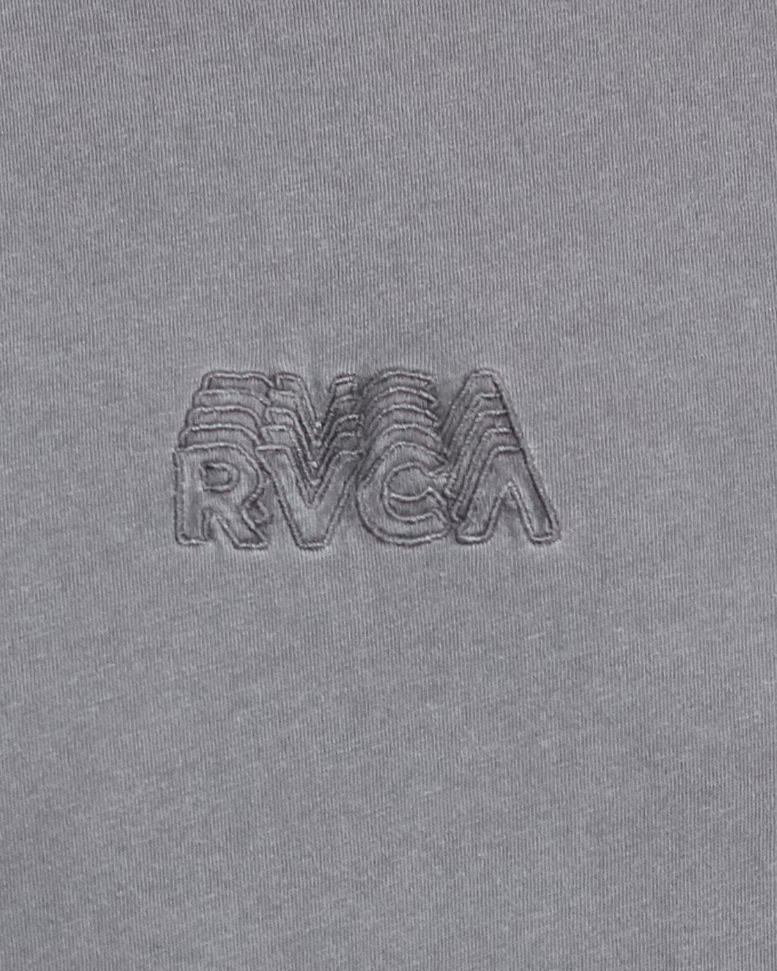 5 RVCA SHADOW SHORT SLEEVE TEE Grey R105053 RVCA