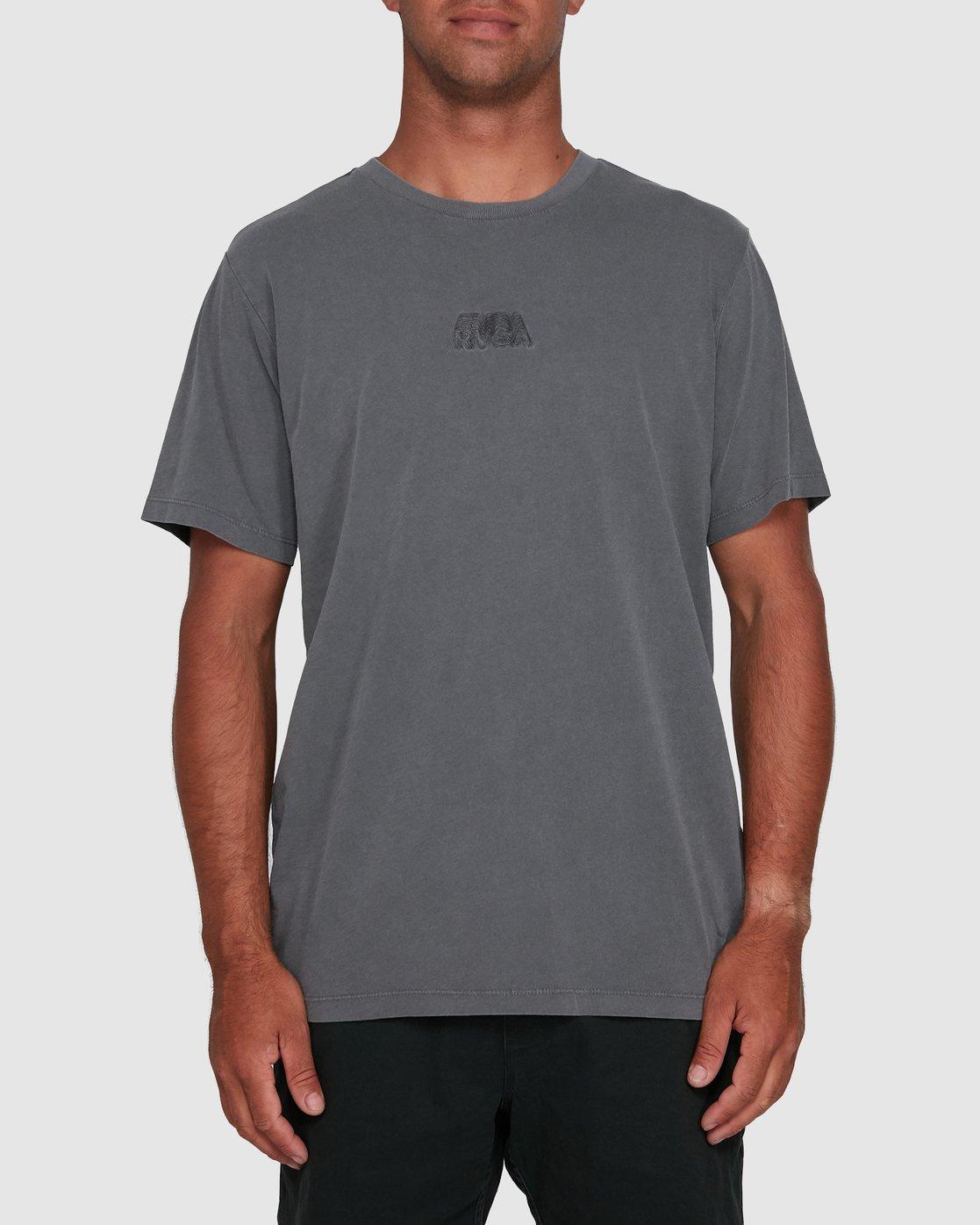0 RVCA SHADOW SHORT SLEEVE TEE Grey R105053 RVCA