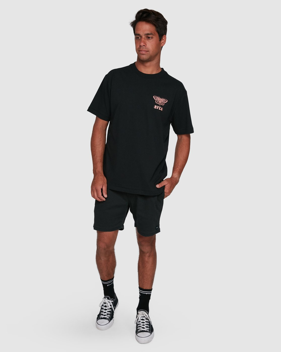 6 FAUNA SHORT SLEEVE TEE Black R105068 RVCA