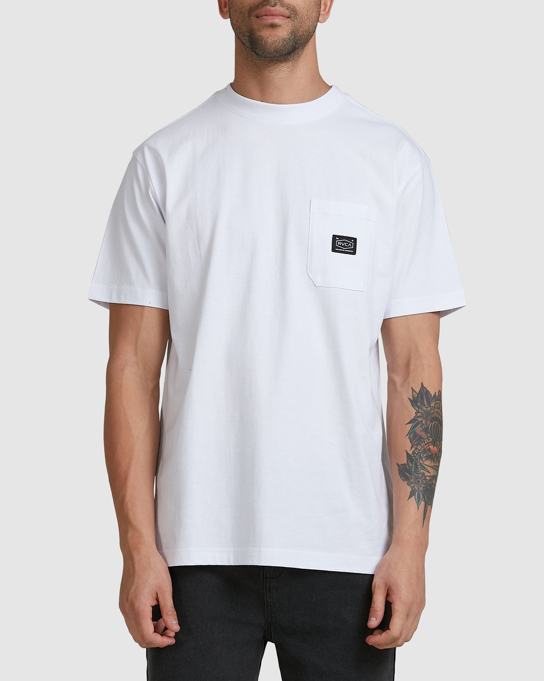 0 CHAINMAIL POCKET SS TEE White R105069 RVCA