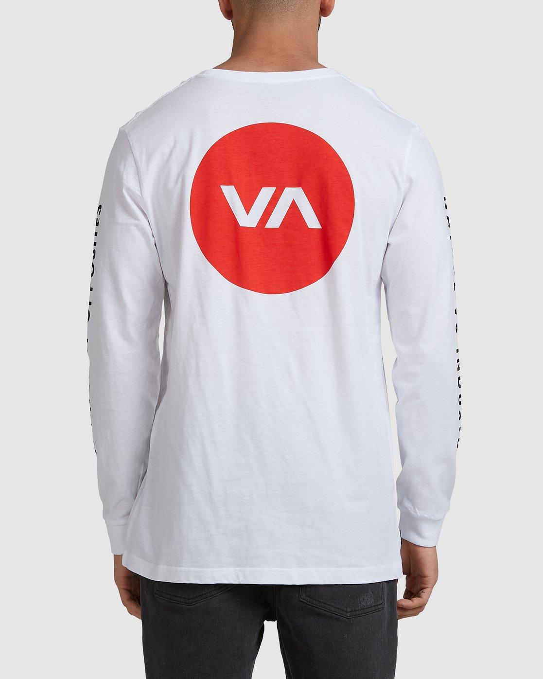 2 VA TARGET LS TEE White R105094 RVCA