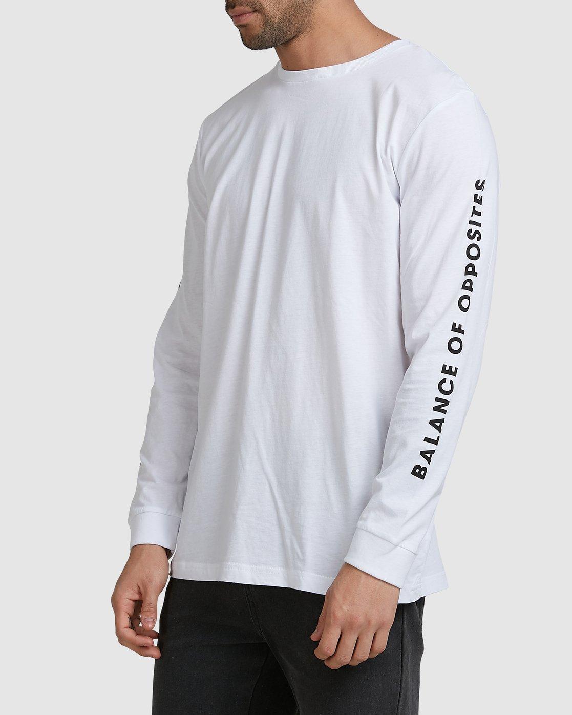 1 VA TARGET LS TEE White R105094 RVCA