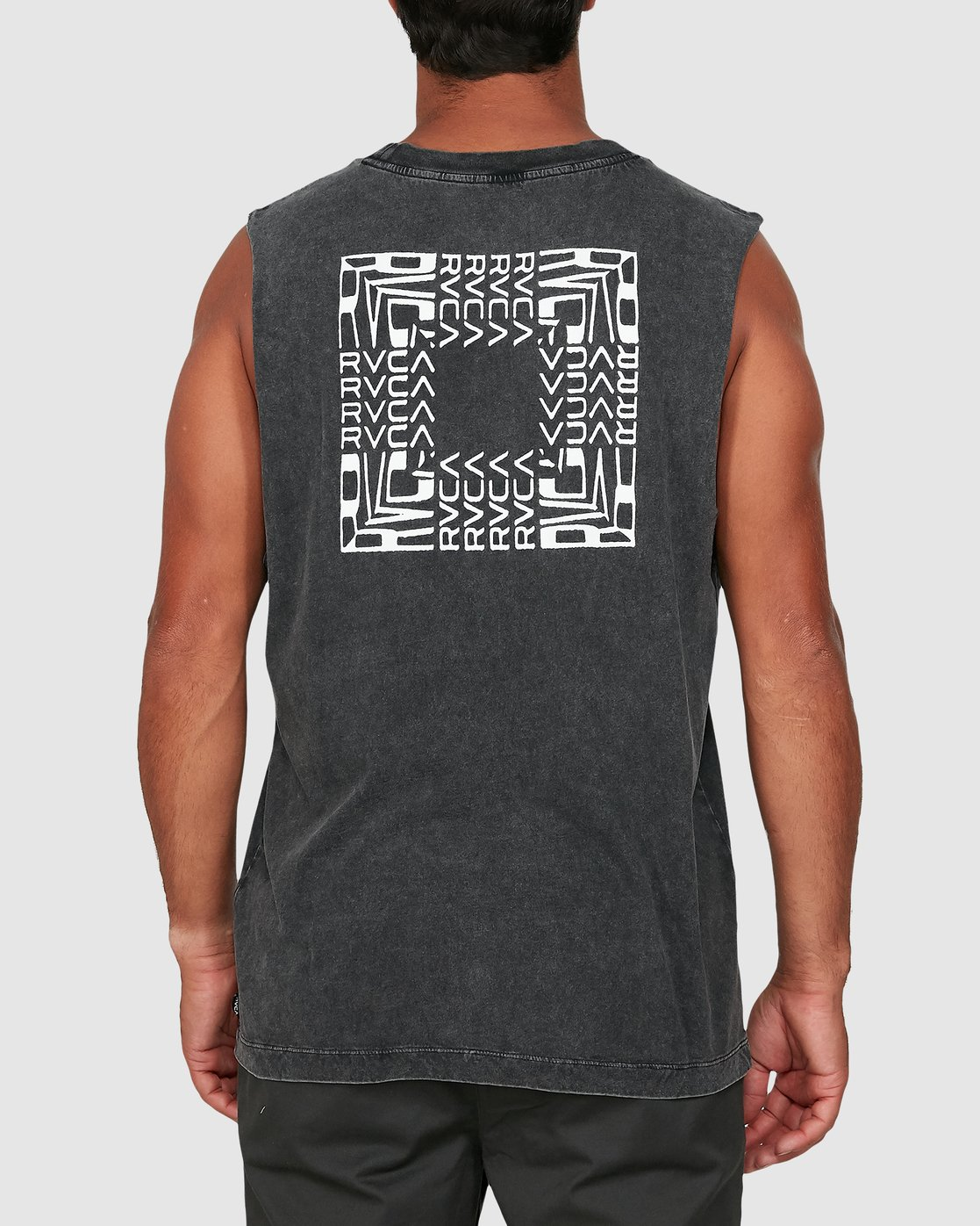 2 Puzzle Muscle Top Black R106006 RVCA