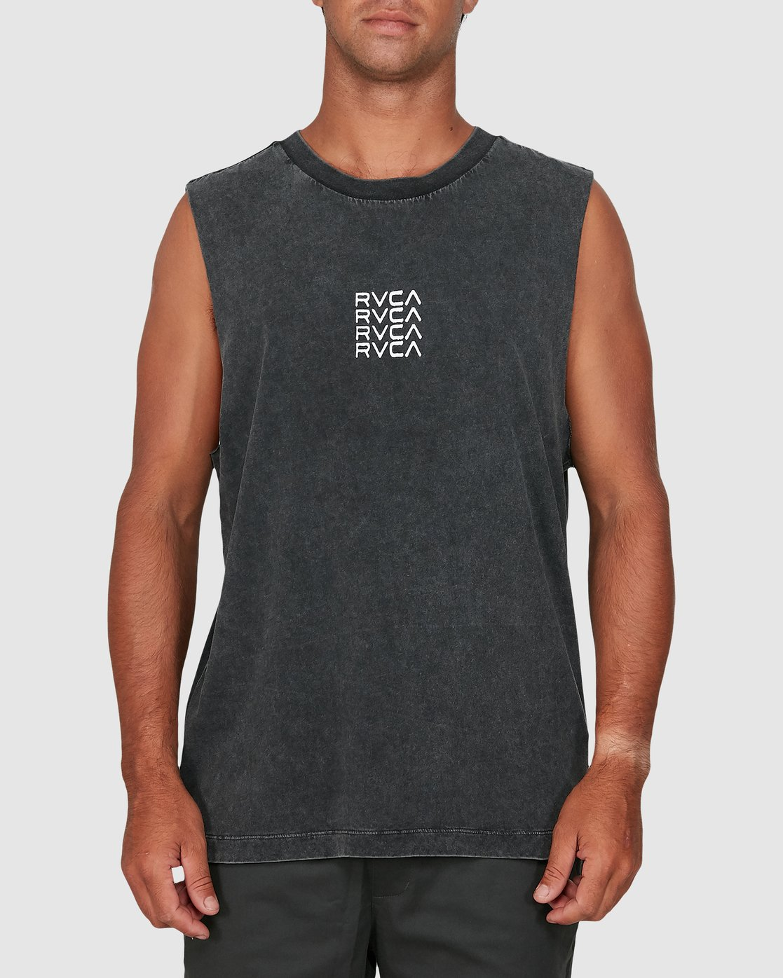 0 Puzzle Muscle Top Black R106006 RVCA
