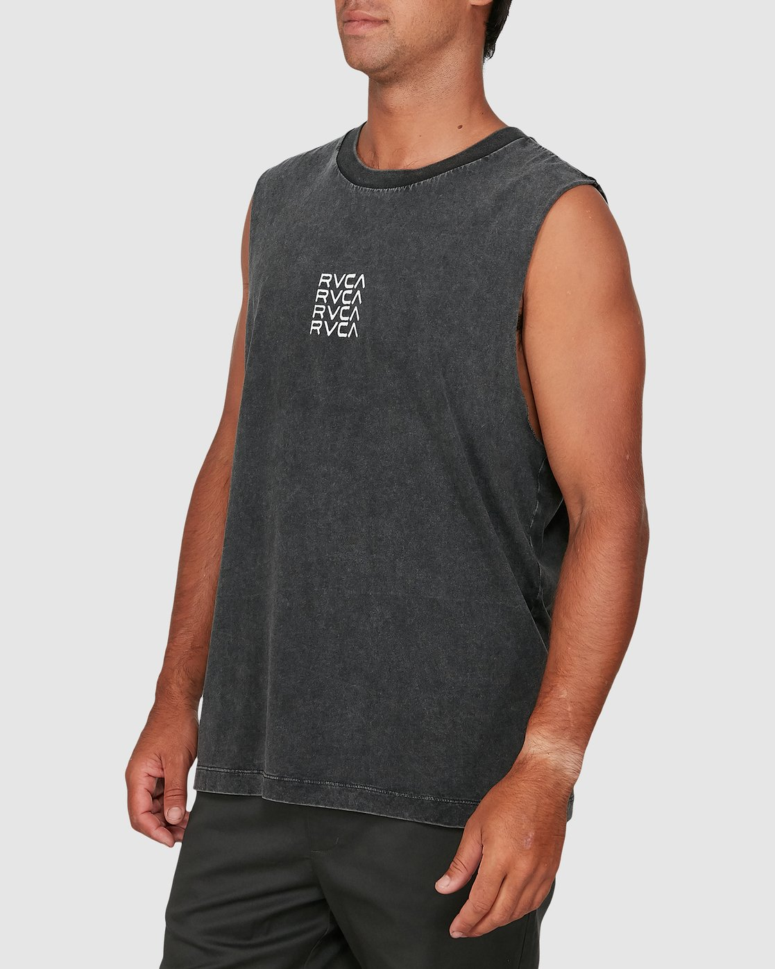 1 Puzzle Muscle Top Black R106006 RVCA