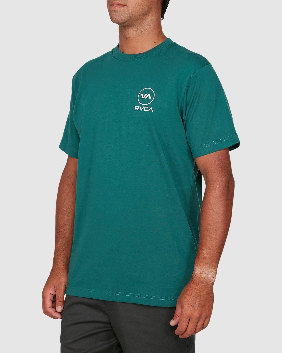 1 Longitude Short Sleeve Tee Green R106042 RVCA