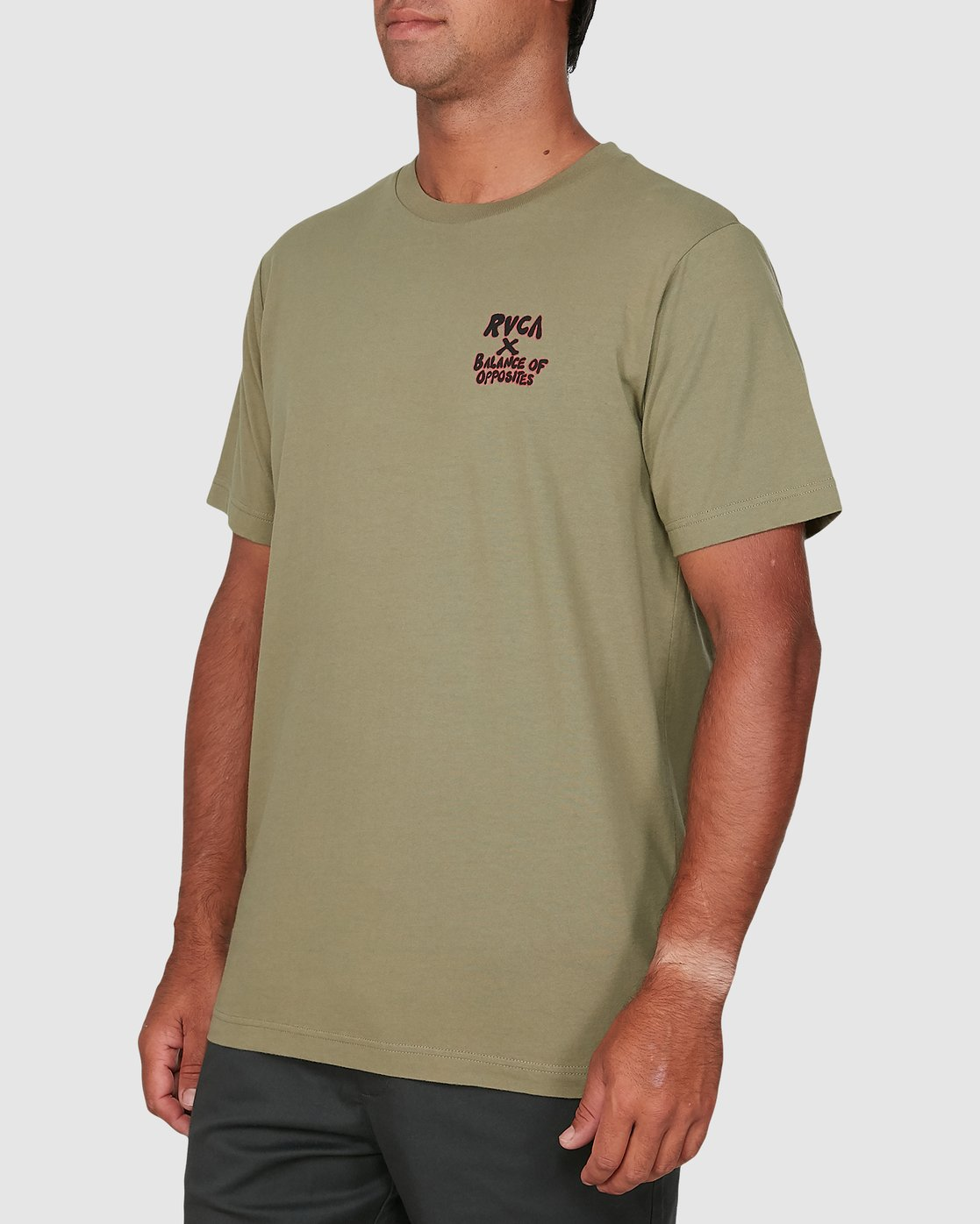 1 Red Belly Short Sleeve Tee Green R106046 RVCA