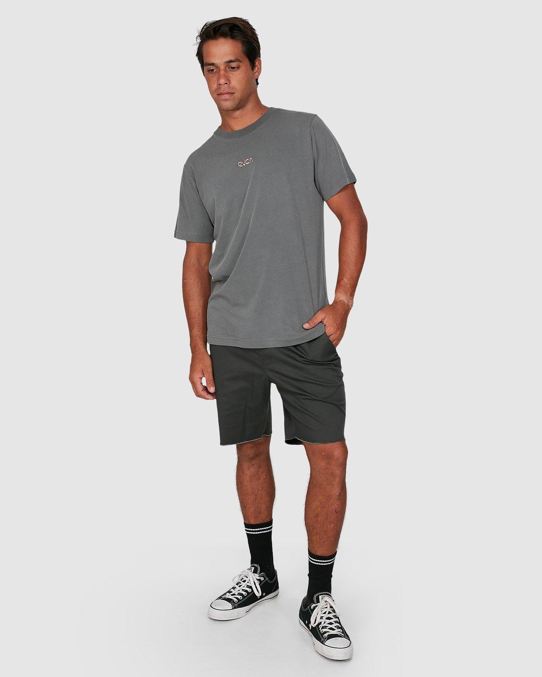 5 Cantina Short Sleeve Tee Grey R106057 RVCA