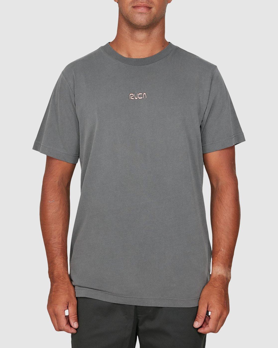 2 Cantina Short Sleeve Tee Grey R106057 RVCA
