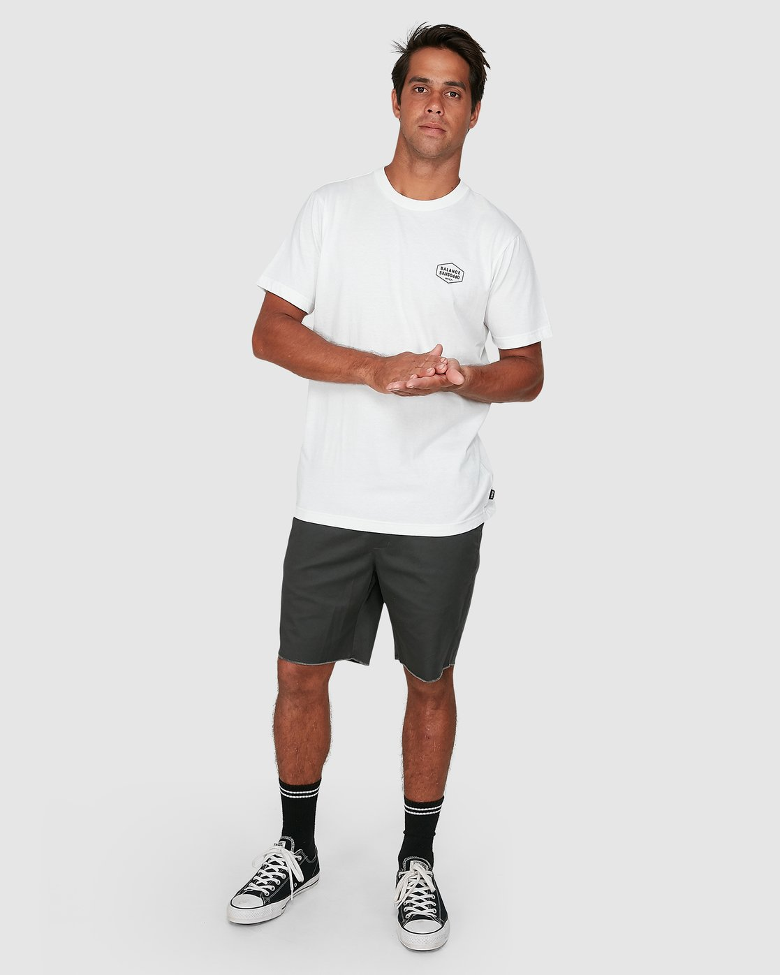 5 Rvca Hex Short Sleeve Tee White R106058 RVCA