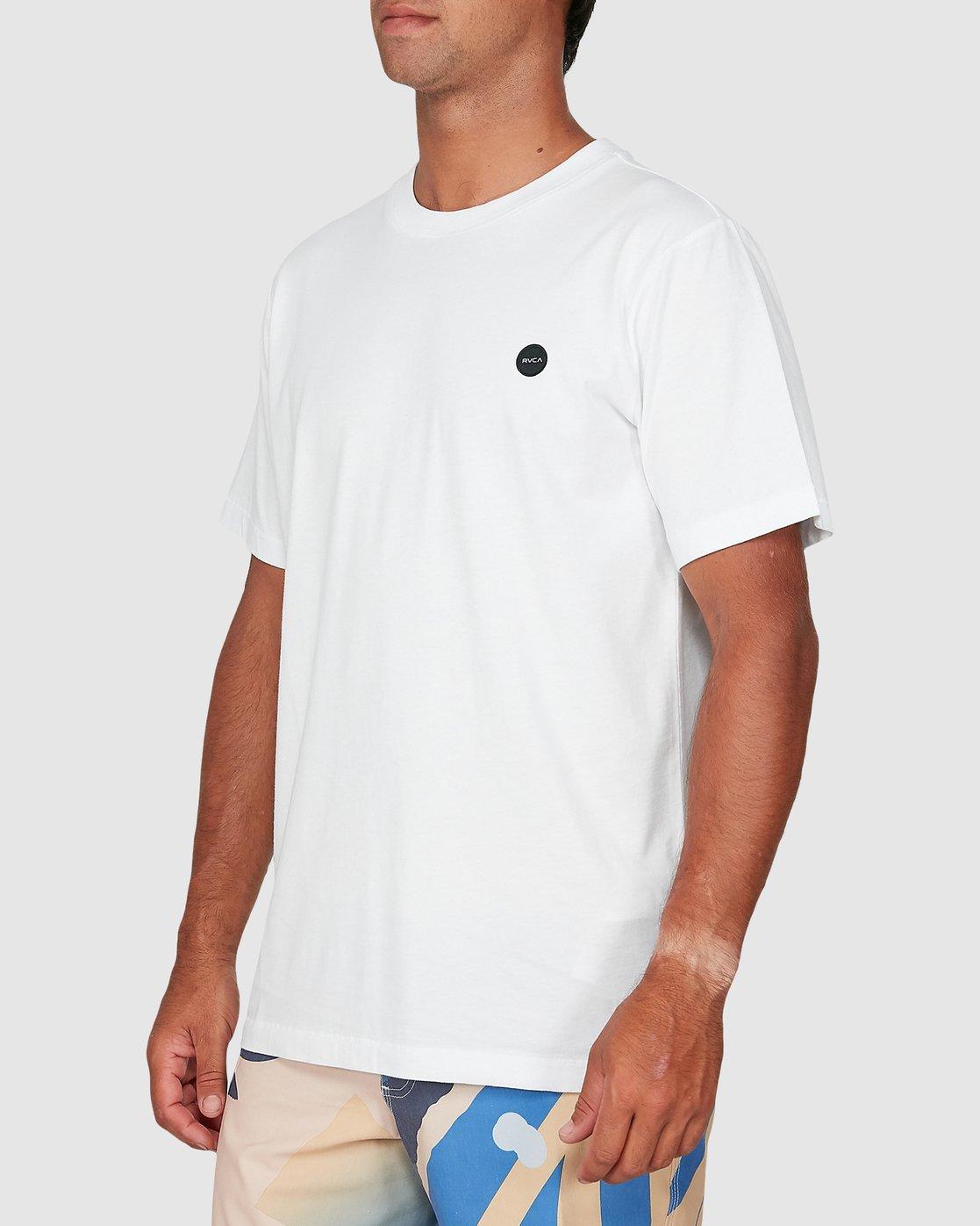 1 Vapor Er Short Sleeve Tee White R106064 RVCA