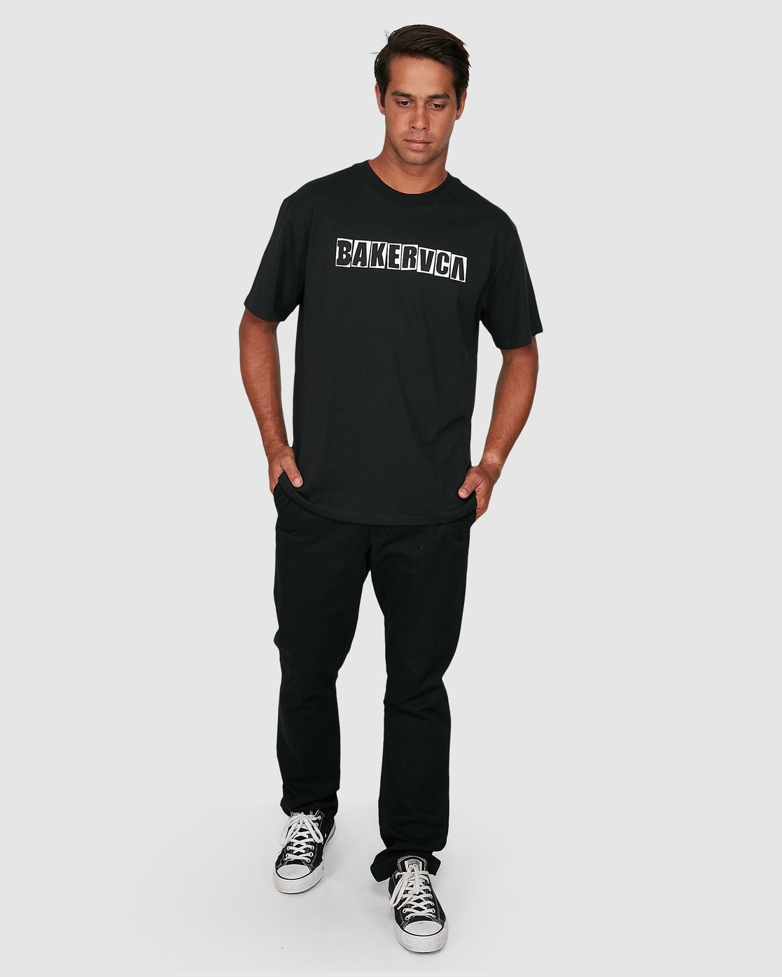5 Ransom Short Sleeve Tee Black R106069 RVCA