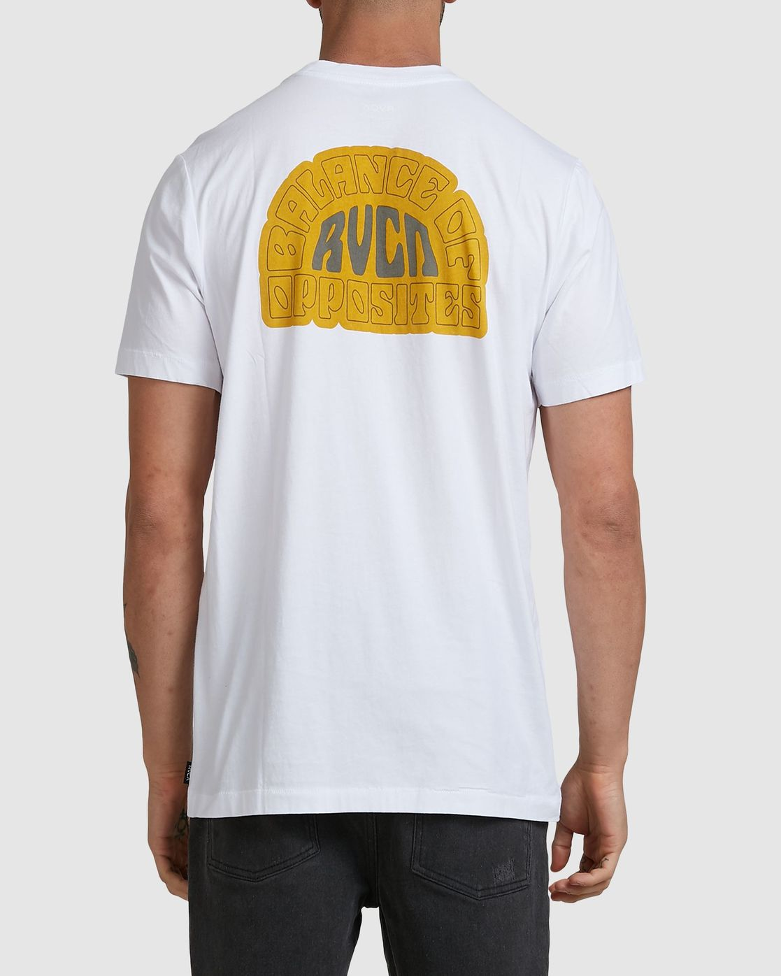 0 Central Rvca Short Sleeve Tee White R106070 RVCA