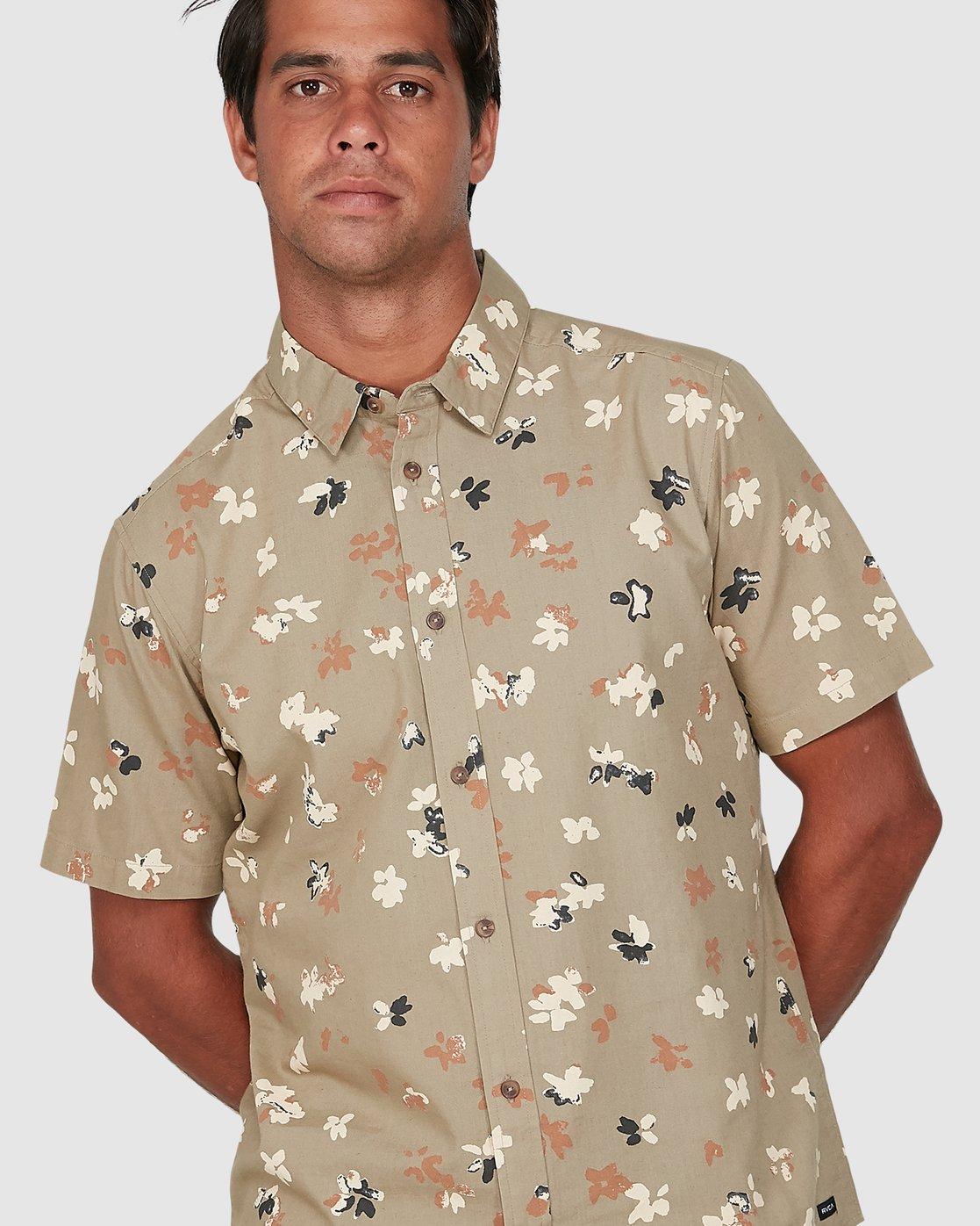 3 Tourist Short Sleeve Shirt Yellow R106186 RVCA