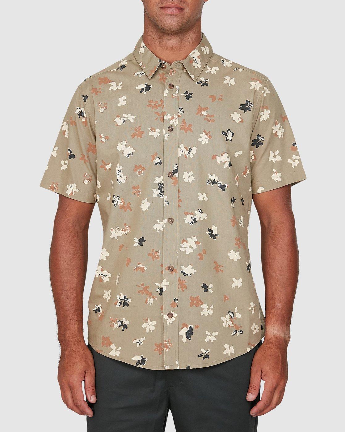0 Tourist Short Sleeve Shirt Yellow R106186 RVCA