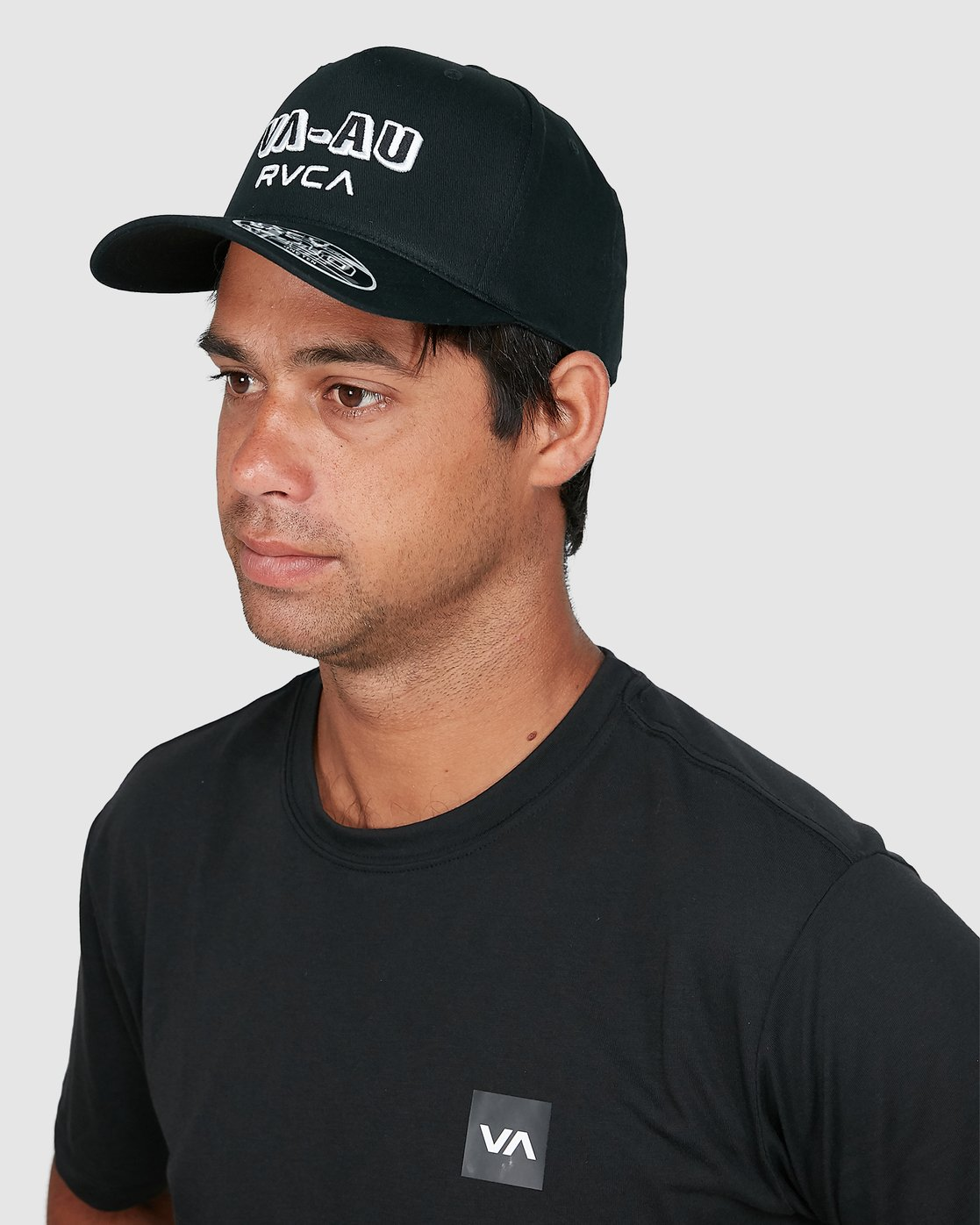 4 Rvca Shadow Pinched Trucker Cap Black R106564 RVCA