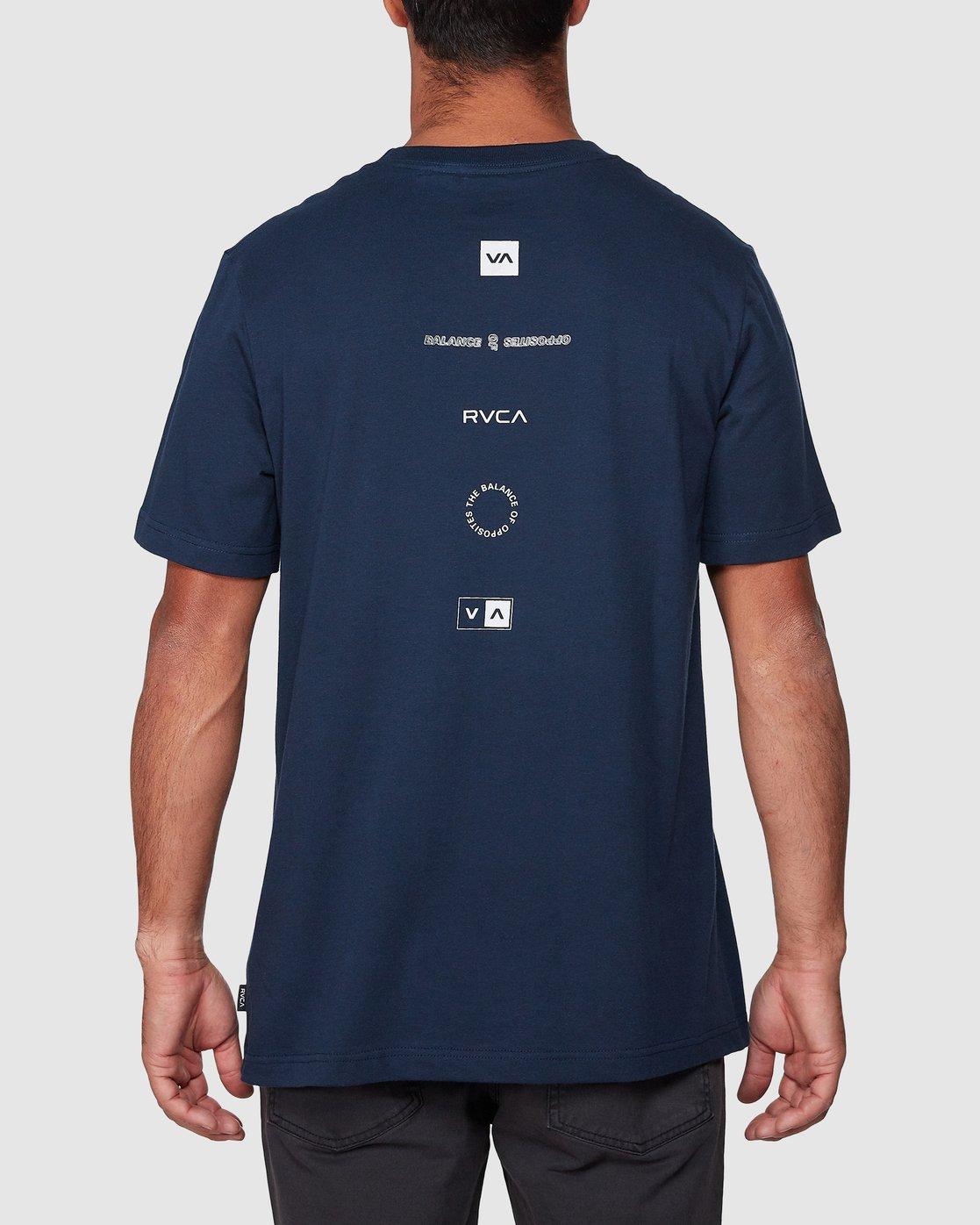 3 Upside Short Sleeve Tee Blue R107042 RVCA