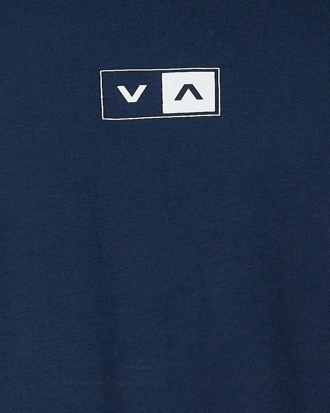 4 Upside Short Sleeve Tee Blue R107042 RVCA