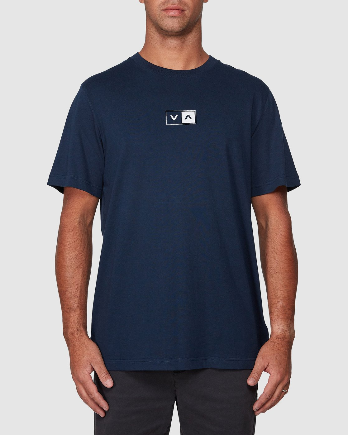 1 Upside Short Sleeve Tee Blue R107042 RVCA