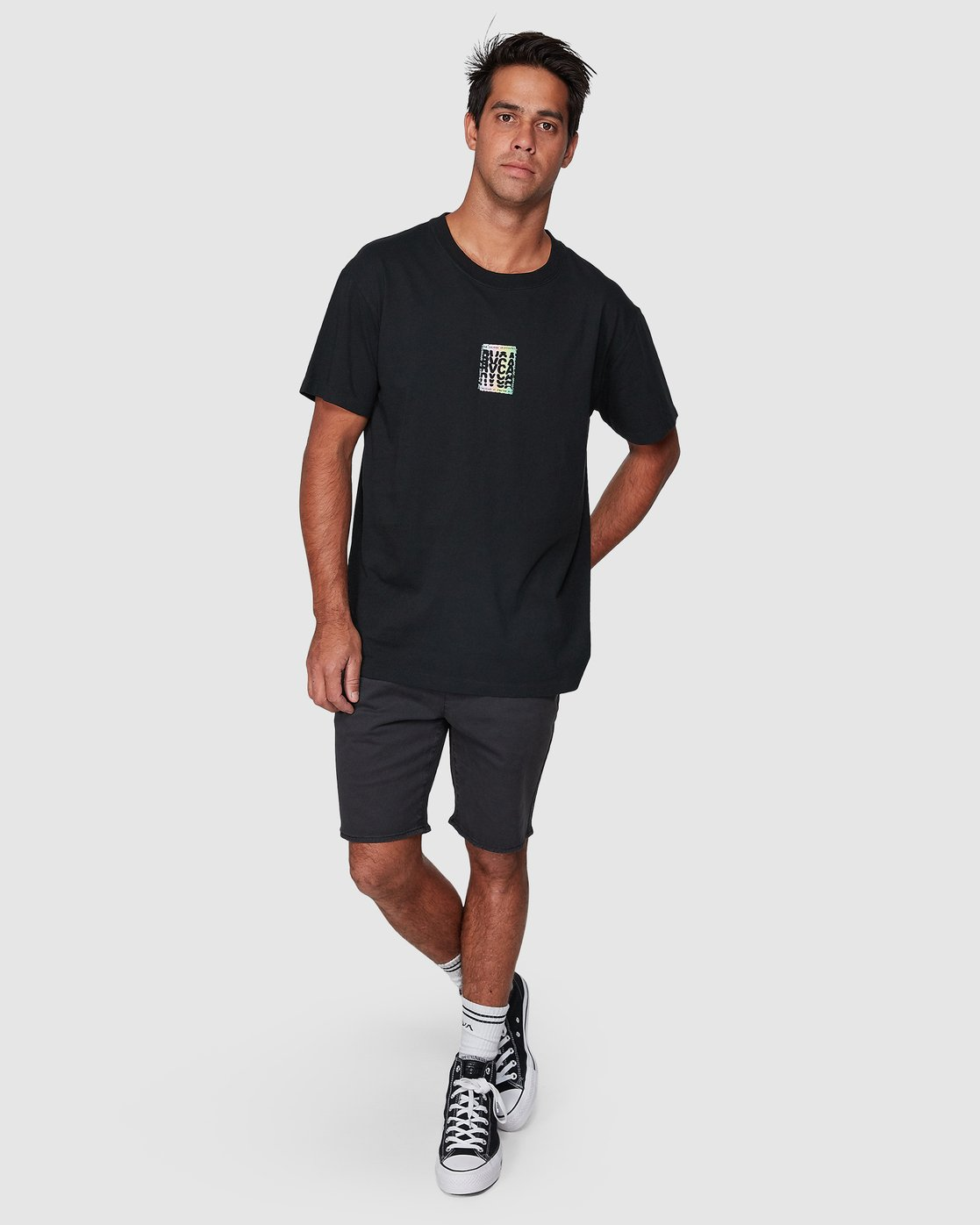 5 Stagger Short Sleeve Tee  R107044 RVCA