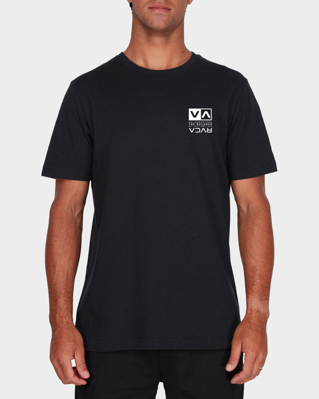 1 RVCA Split Short Sleeve Tee  R107045 RVCA