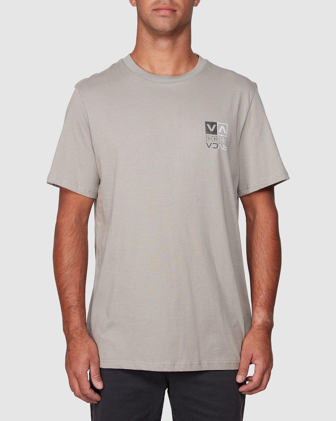 1 RVCA Split Short Sleeve Tee Multicolor R107045 RVCA