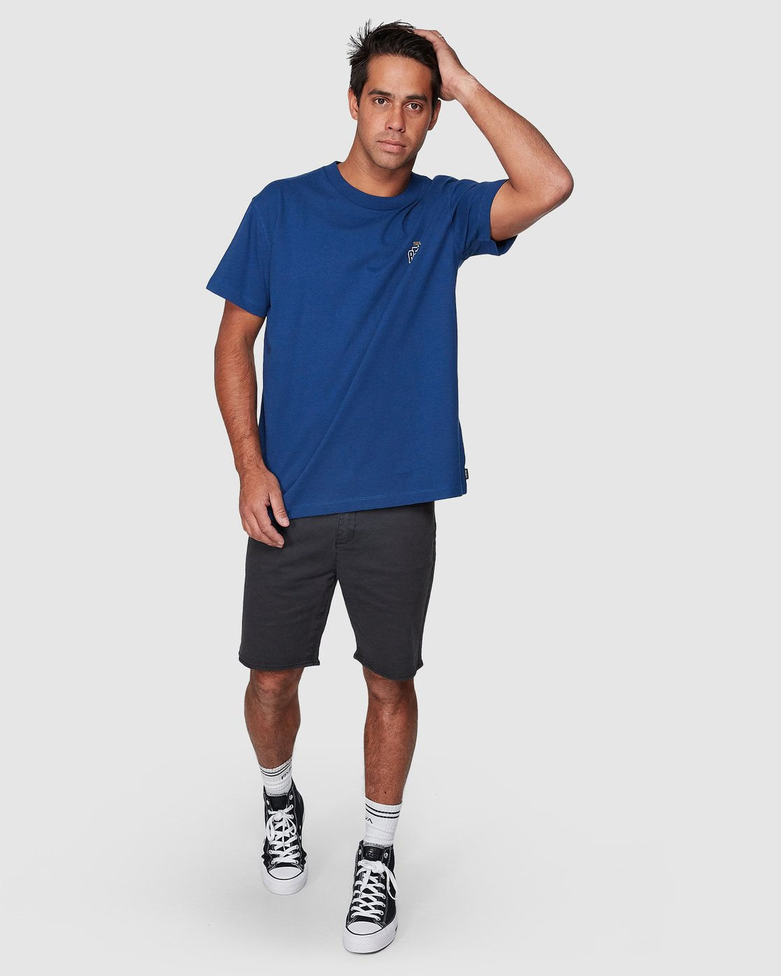 5 Heat Wave Short Sleeve Tee Blue R107047 RVCA