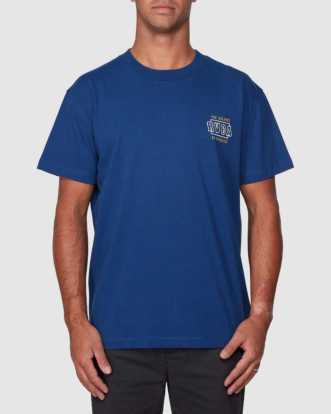 1 Heat Wave Short Sleeve Tee Blue R107047 RVCA