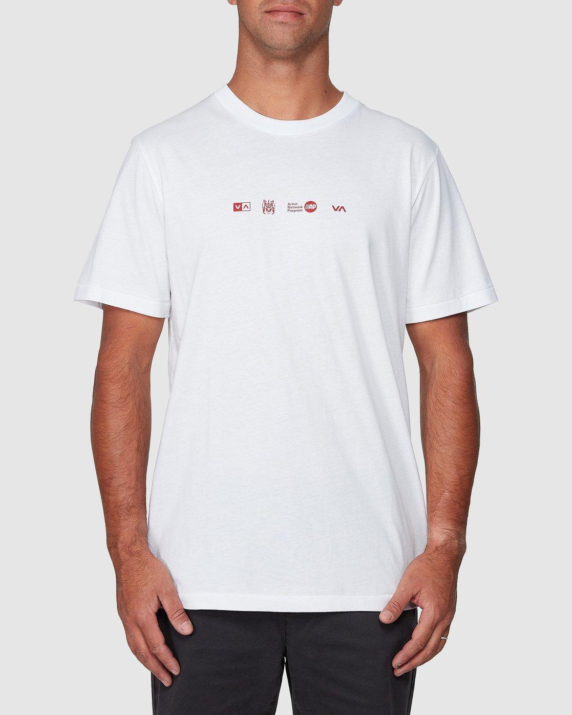 1 All Brand Short Sleeve Tee  R107049 RVCA