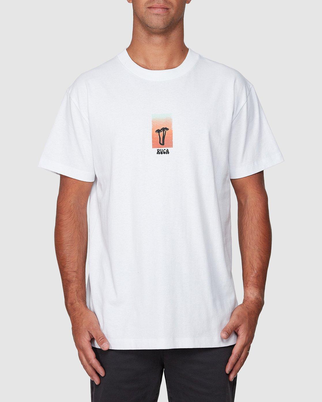 1 Mushie Mush Short Sleeve Tee White R107055 RVCA