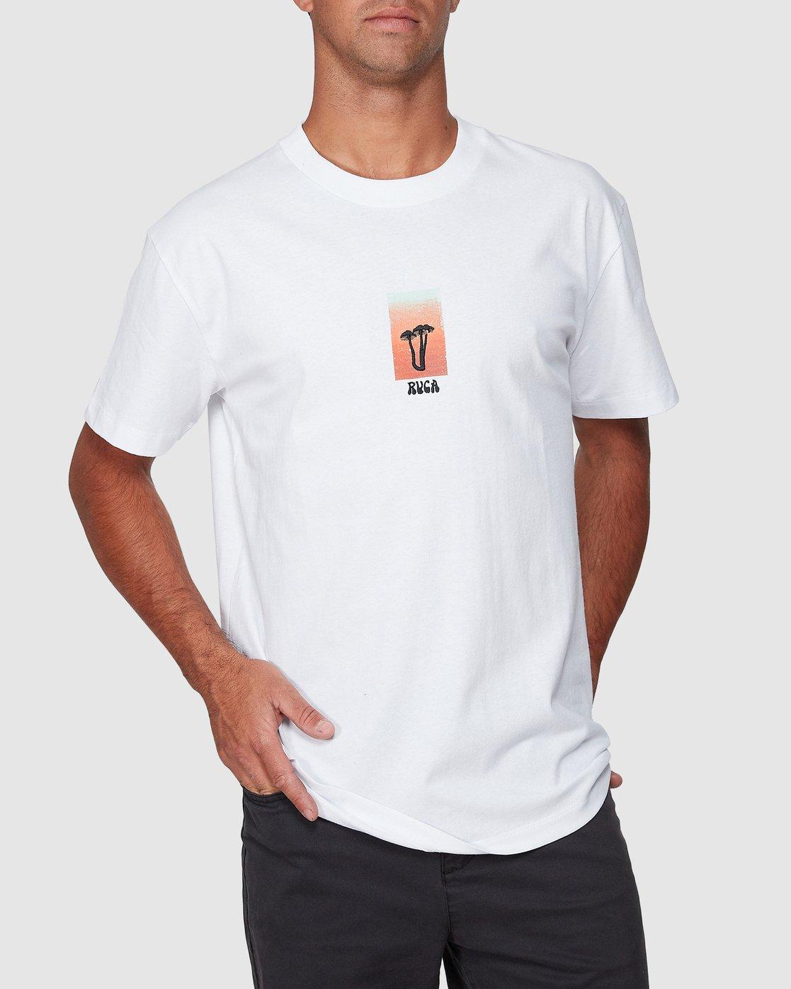 0 Mushie Mush Short Sleeve Tee White R107055 RVCA