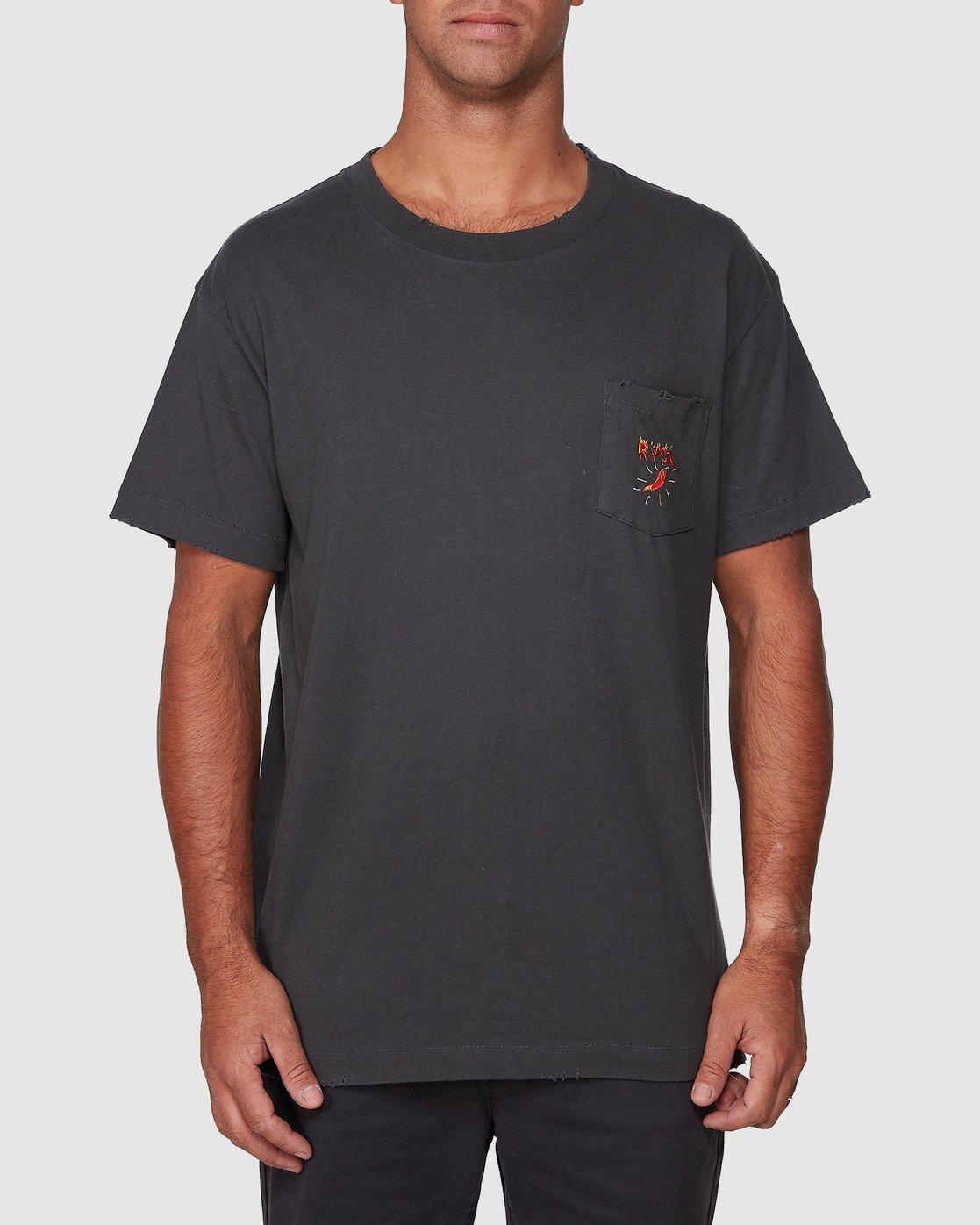 1 Spicy Pocket Short Sleeve Tee  R107057 RVCA