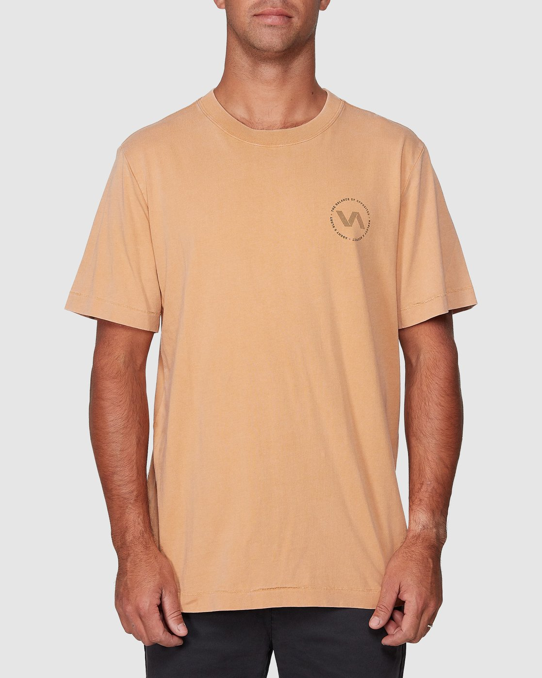1 Sound Waves Short Sleeve Tee Yellow R107058 RVCA