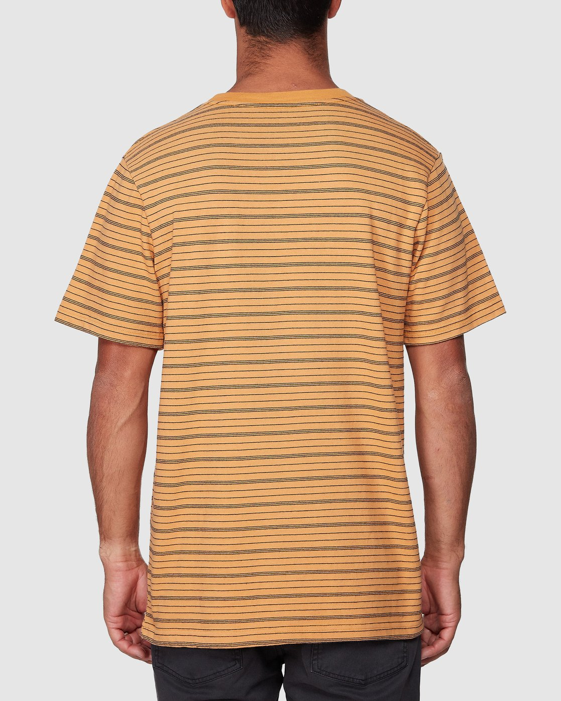 3 Rain Stripe Short Sleeve Tee Orange R107062 RVCA