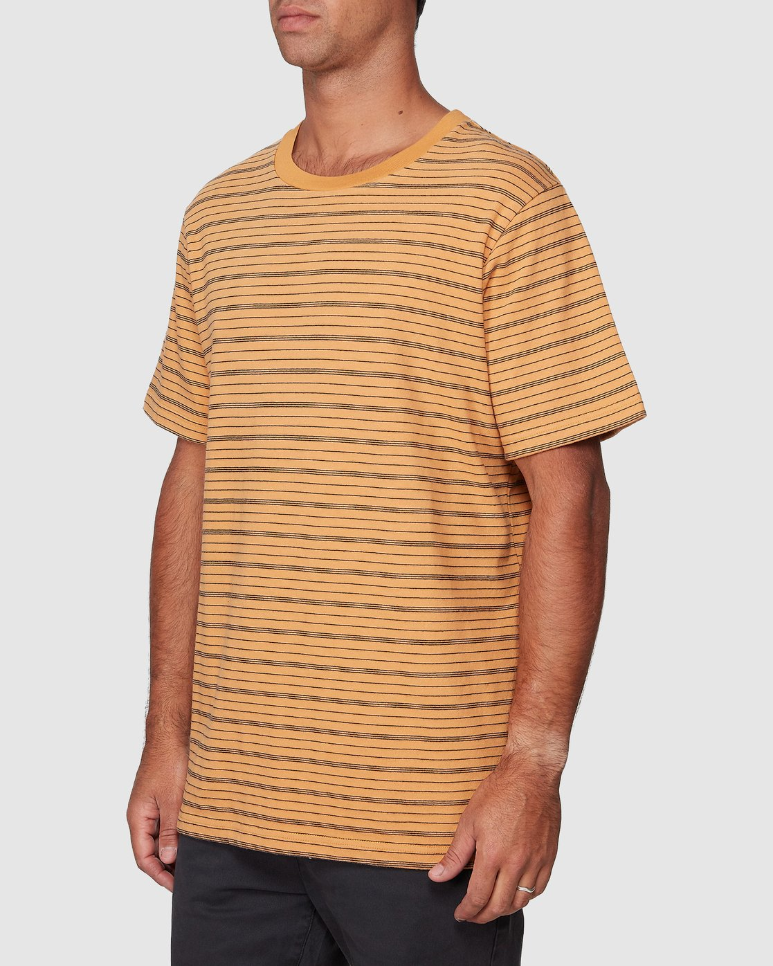 2 Rain Stripe Short Sleeve Tee Orange R107062 RVCA