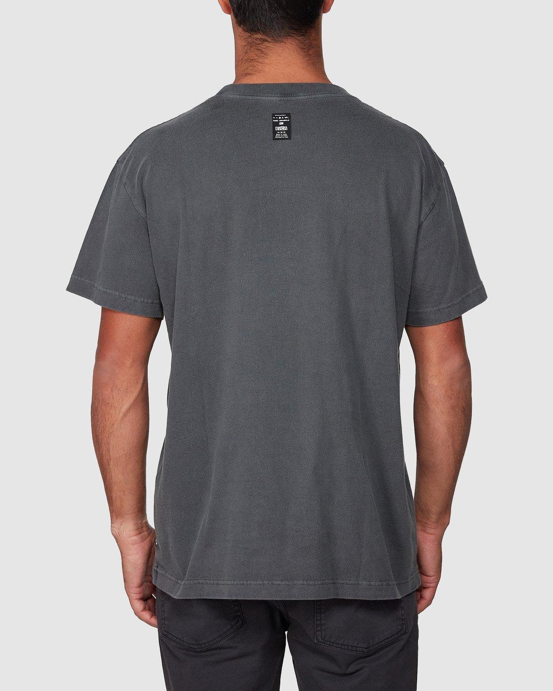 3 Spun Spirit Short Sleeve Tee Black R107068 RVCA