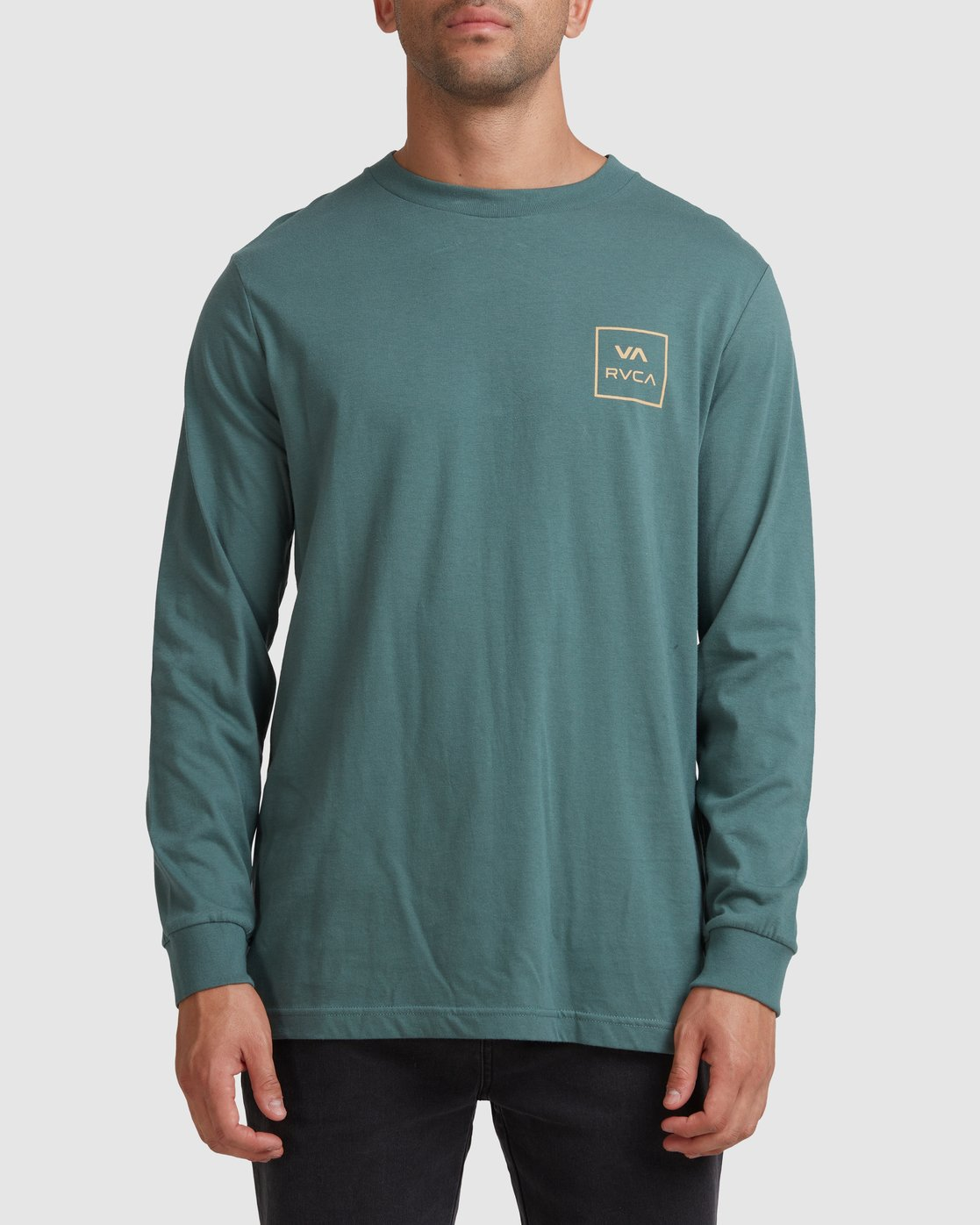 0 VA All The Ways Long Sleeve Tee Green R107091 RVCA