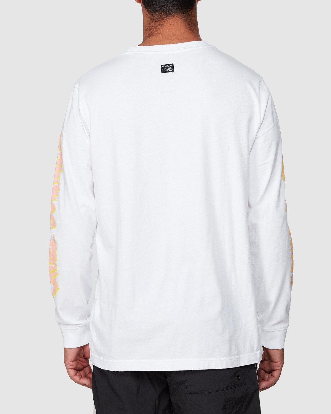 3 Cruel Summer Long Sleeve Tee White R107094 RVCA