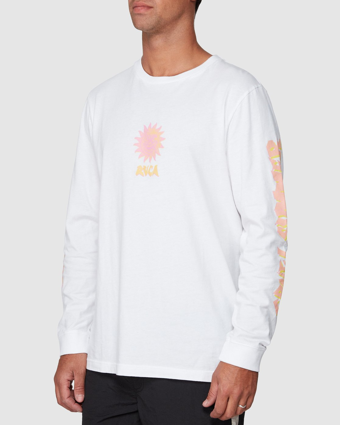 2 Cruel Summer Long Sleeve Tee White R107094 RVCA