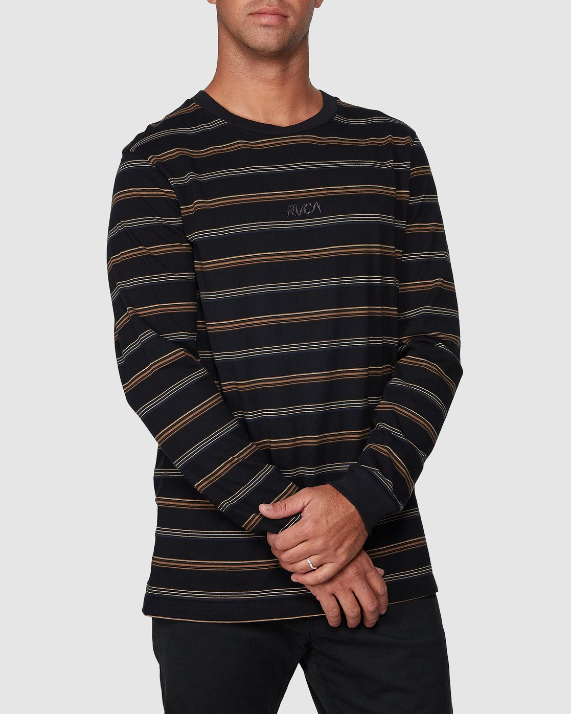 0 Merc Stripe Long Sleeve Tee  R107095 RVCA