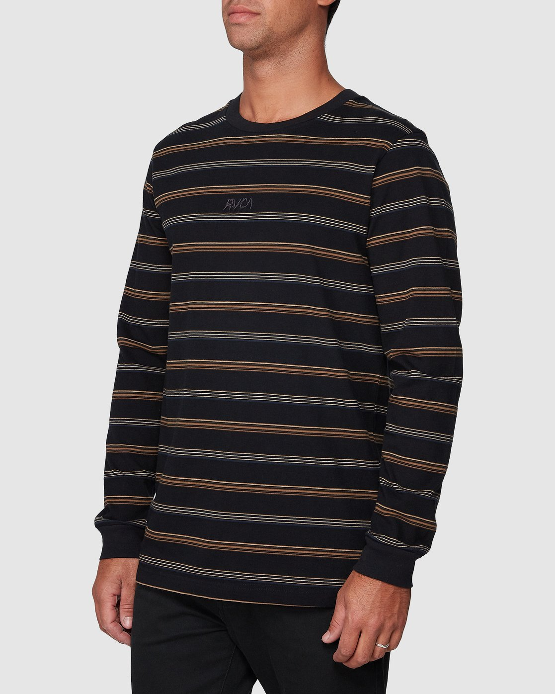 2 Merc Stripe Long Sleeve Tee  R107095 RVCA