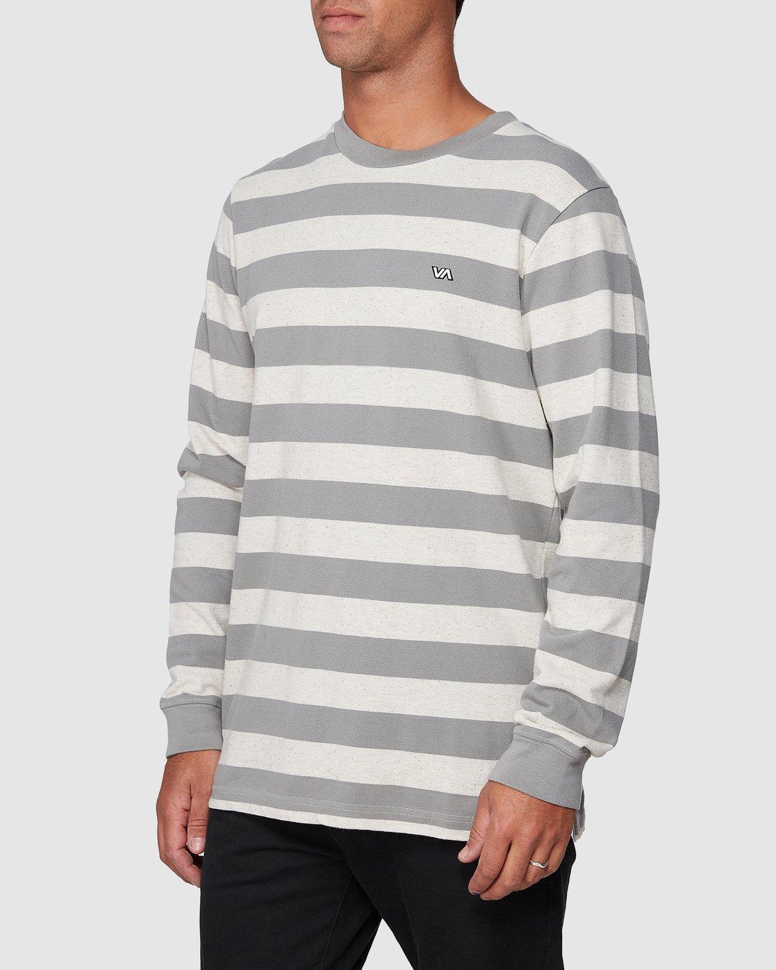 2 Shallow End Stripe Long Sleeve Tee  R107096 RVCA