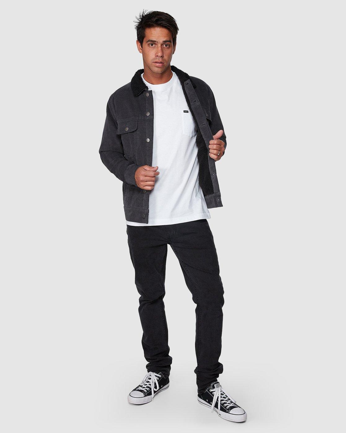 5 Daggers Cord Sherpa Jacket Grey R107433 RVCA