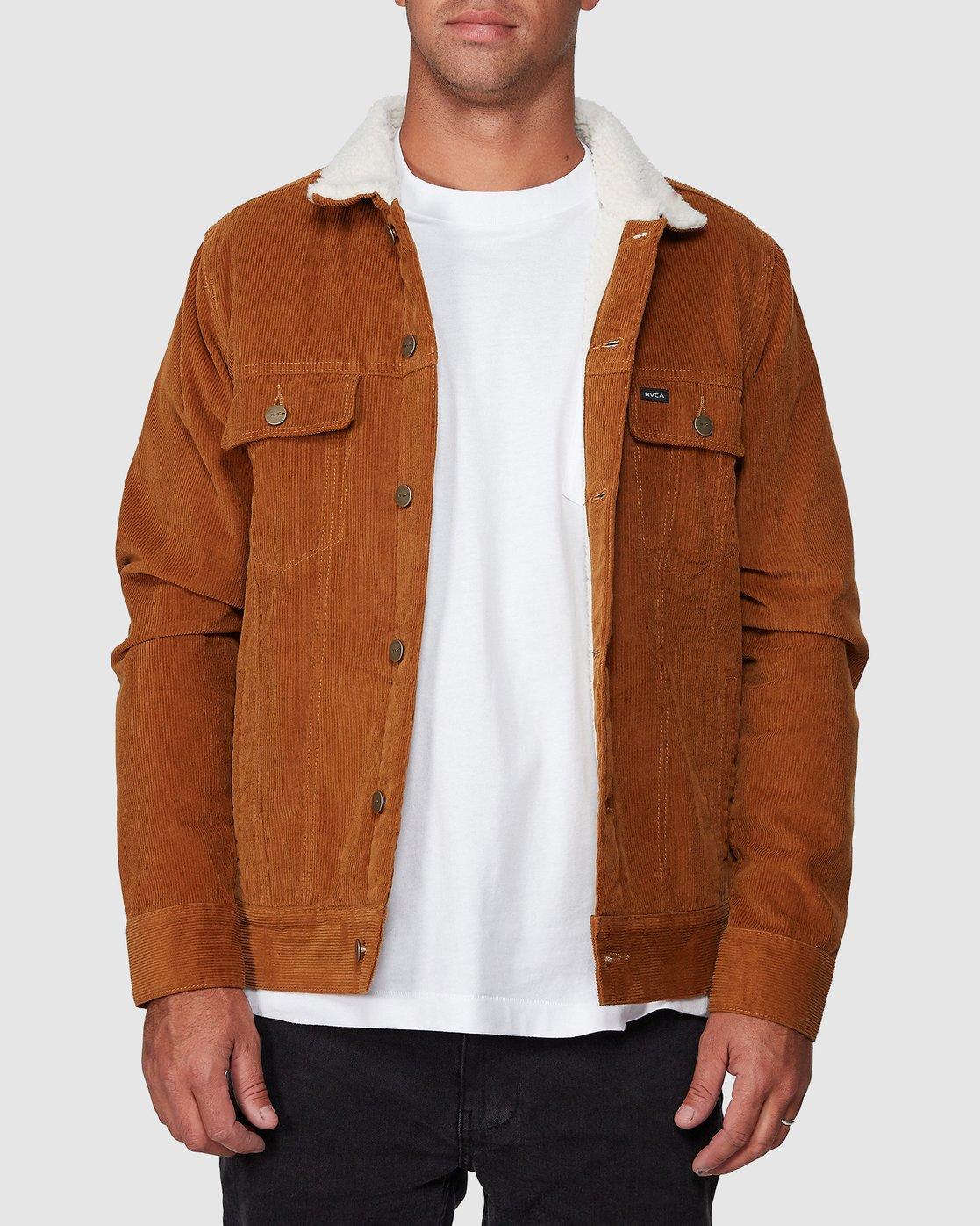 0 Daggers Cord Sherpa Jacket  R107433 RVCA